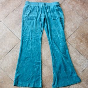 LIKE NEW JUICY COUTURE VELOUR BLUE SWEAT PANT
